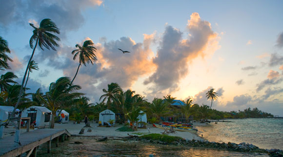 Sunset at Glover's Reef, Belize