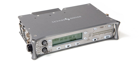 "The Sound Devices 702 digital audio recorder, affectionately named ""the Battleship."""