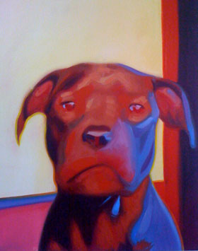 Portrait of Sid the Dog, by Peter König