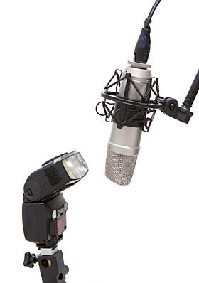"""""""Flash directly into the microphone, please."""""""
