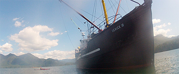 The MV Uchuck III, passenger vessel and freigher on the west coast of Vancouver island.
