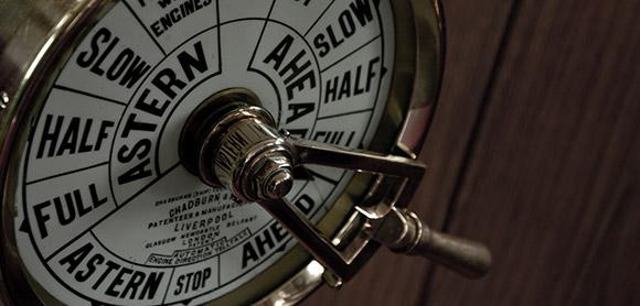 The engine telegraph unit.